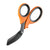 "XShear 7.5"" Heavy Duty Trauma Shears, Orange Handles, Black Titanium Coated Blades"
