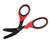 "XSHEAR 7.5"" Trauma Shears, Black Titanium Coated Blade, Red/Black Handles"