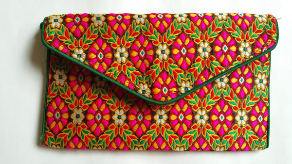 Jacquard Envelope Clutch
