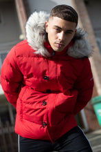 4BIDDEN LIGHTENING RED BUBBLE JACKET