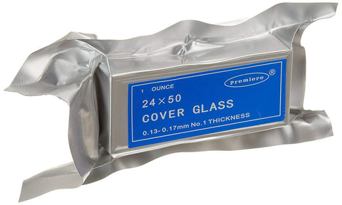 Premiere Cover Glass, 24 x 50 mm, No. 1 Thickness (#2075)