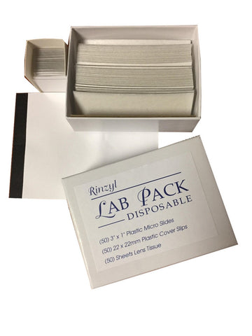 Rinzl Lab Pack Disposable Slides, Cover Slips and Lens Paper