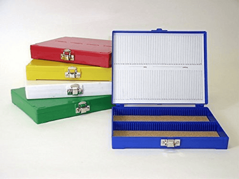 "Microscope Slide Storage Box for 3"" x 1"" (75 x 25mm) Slides, 100 Capacity (#5202)"