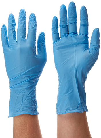 Dynarex SafeTouch Nitrile Exam Gloves, Non Latex, Powder Free, Small, Blue, Box of 100 - Benz Microscope Optics Center