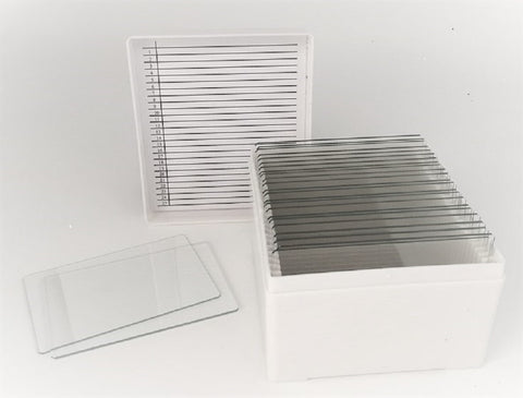 "Large 3"" x 2"" Glass Microscope Slides in Storage Case, 25 Count (#5210/25C)"