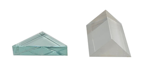 Glass Right Angle Prism Set, 2 pc, for Deflecting Light (#51489)