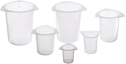 Tri-Pour / Tri-Corner Beaker Set of 6, PP, 50 ml - 1000 ml #H300