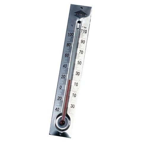 Metal Back Student Thermometer, Celsius -40 to 110 Degrees (#826)