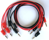 Banana Plug Cords, Stacking Type, Six 24 Inch Leads (3 Red & 3 Black) (#PE9150/6)