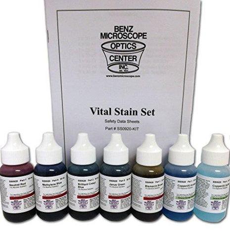 Slide Stains - Vital Stains Kit, 7pk (#BZ0920)