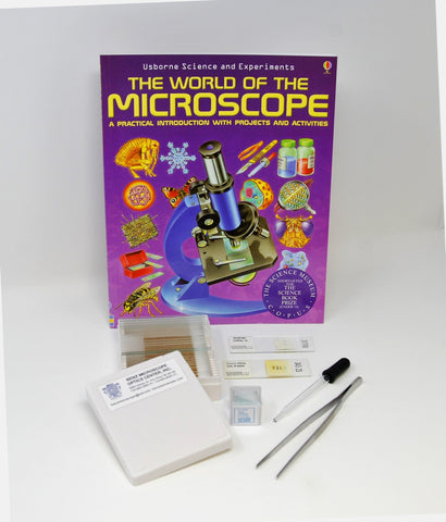 Basic Glass Slide Making Set with World of the Microscope Book