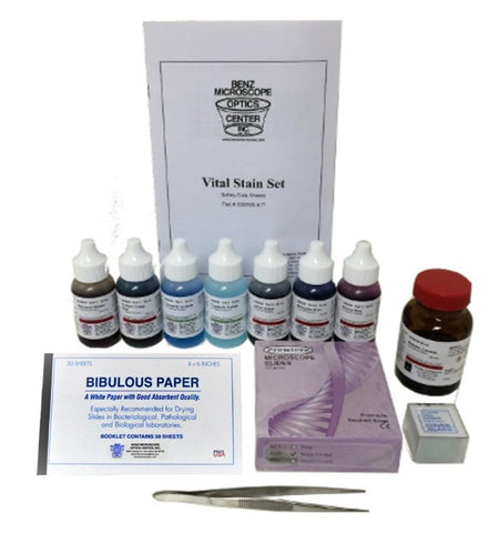 Complete Slide Making Kit with Slides, Stains, Mounting Media & More (#BZ0090) - Benz Microscope Optics Center