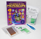Basic Plastic Slide Making Kit with The World of the Microscope Book (#BZK2300B)