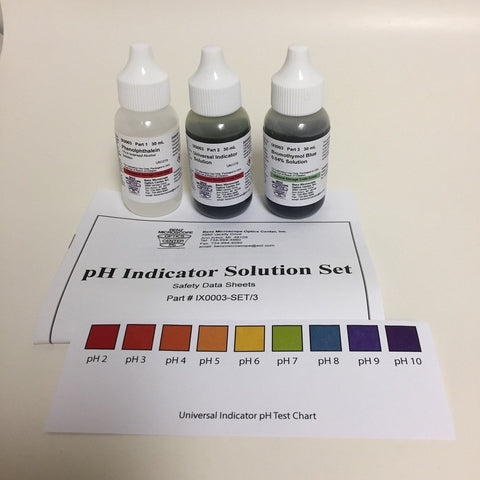 Chemicals: pH Indicator Solution Set (#BZ0003)