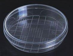 Petri Dishes with Counting Grid, Plastic, 100mm x 20mm, Pack of 10 (#L335)