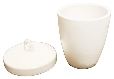 Porcelain Crucible, High Form with Lid, 30 mL and 50 mL (#L803, L804) - Benz Microscope Optics Center
