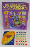 PRIMARY SLIDE SET WITH 24 SPECIMENS AND THE WORLD OF THE MICROSCOPE BOOK (#LR2039B)