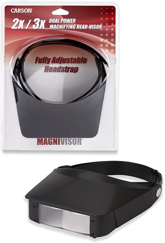 Carson Magnivisor 2X/3X Dual Power Magnifying Head Visor (MV-23)