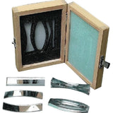Optics Set, Acrylic, 5 pc in Wooden Box (#P966) - Benz Microscope Optics Center