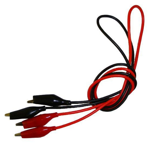 "Connection Wires with Insulated Alligator Clips 24"" Long, 5 Red and 5 Black (#PE9303/10)"