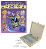 Celestron Prepared Slides with World of the Microscope Book (#44410B, 44411B, 44412B) - Benz Microscope Optics Center