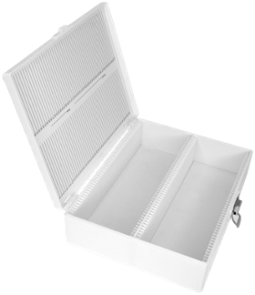 "100 Capacity Microscope Slide Storage Box for 3"" x 2"" Slides (#5220)"