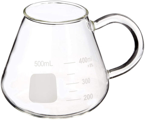 Glass Mug, Conical Flask Style, 500 mL  (#BKM500EF) - Benz Microscope Optics Center