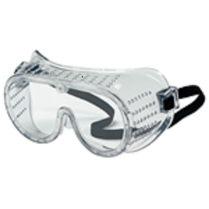 Standard Goggles, Clear, Direct Vent, Black Elastic Band