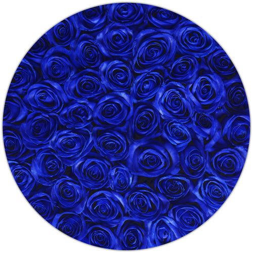 Medium - Blue Roses - Grey Box - The Million Roses Budapest