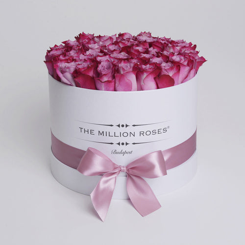 53834887e4 Medium - Deep Purple Roses - White Box - The Million Roses Budapest