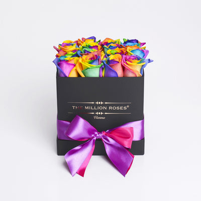 Cube - Rainbow Roses - Black box - The Million Roses Budapest