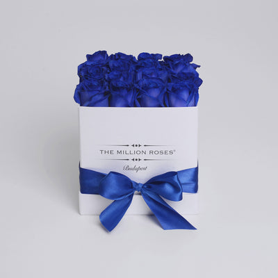 Cube - Blue Roses - White Box - The Million Roses Budapest