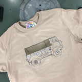 '101 Blueprint' - t-shirt - B&C Sand