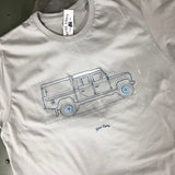 'Crew Cab'  t-shirt - B&C Light Grey