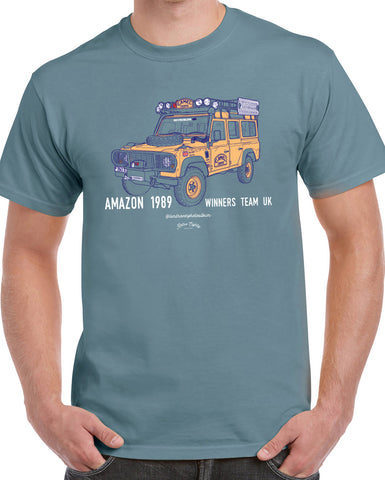'Amazon 1989'  Camel Trophy 110 t-shirt - B&C Stone