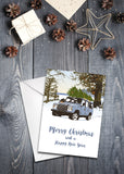 Long Wheelbase Station Wagon Christmas cards - pack of 8