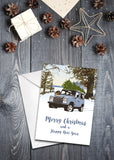 'Defender 90' Christmas Card - pack of 8