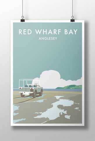 Land Rover Series 1 'Red Wharf Bay' print