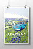 'Berwyn Range, North Wales' Series Three print