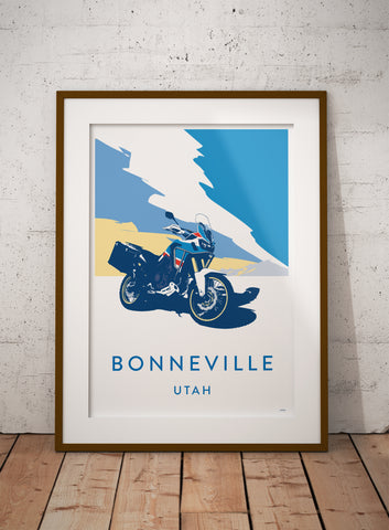 Paris Dakar Motorcycle 'Bonneville' print