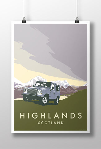 Land Rover Defender 90 'Highlands' print