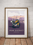 Adventure Motorcycle 'Peak District' print