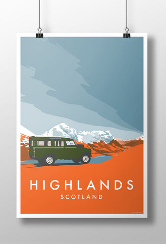 Land Rover Series 2 'Highlands' print