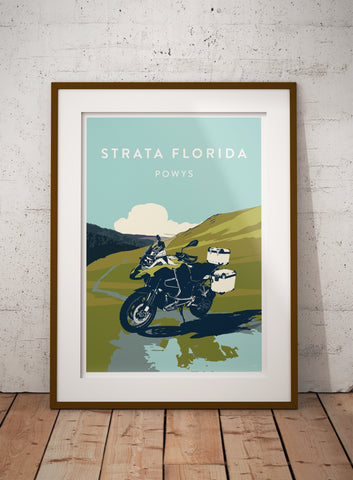 Adventure Expedition Motorcycle 'Strata Florida' print