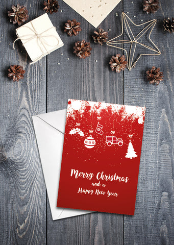 'Baubles' Christmas cards - pack of 8