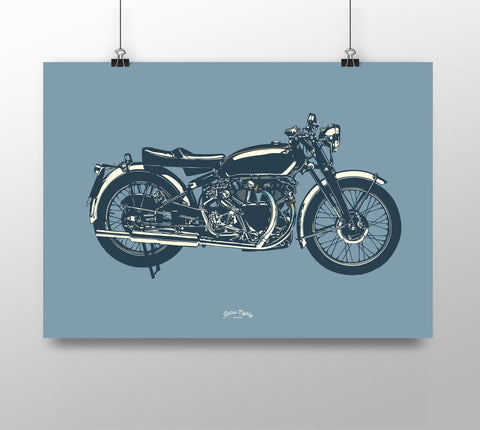 Classic British Motorcycle 'Black Show' print