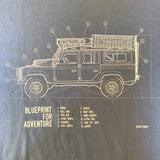 'Blueprint for Adventure' t-shirt - B&C Stone Blue
