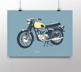 Classic British Motorcycle 'Cafe Racer' print