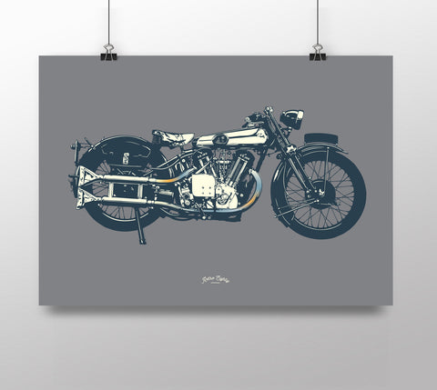 Classic British Pre-War Motorcycle 'SS100' print