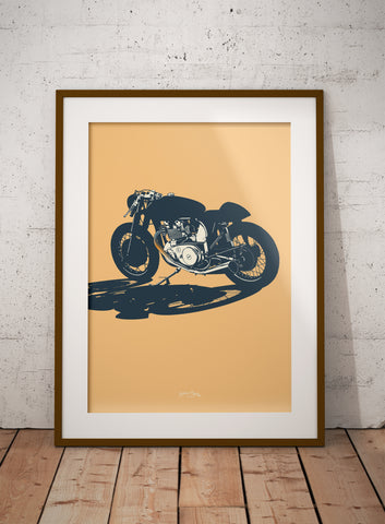 Classic British Cafe Racer print